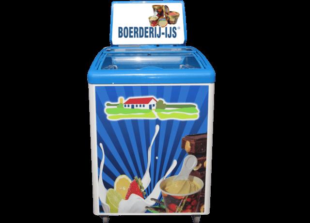 Boerderij-ijs Vitrine Klein