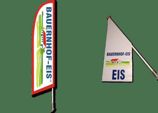 Boerderij-ijs vlaggen