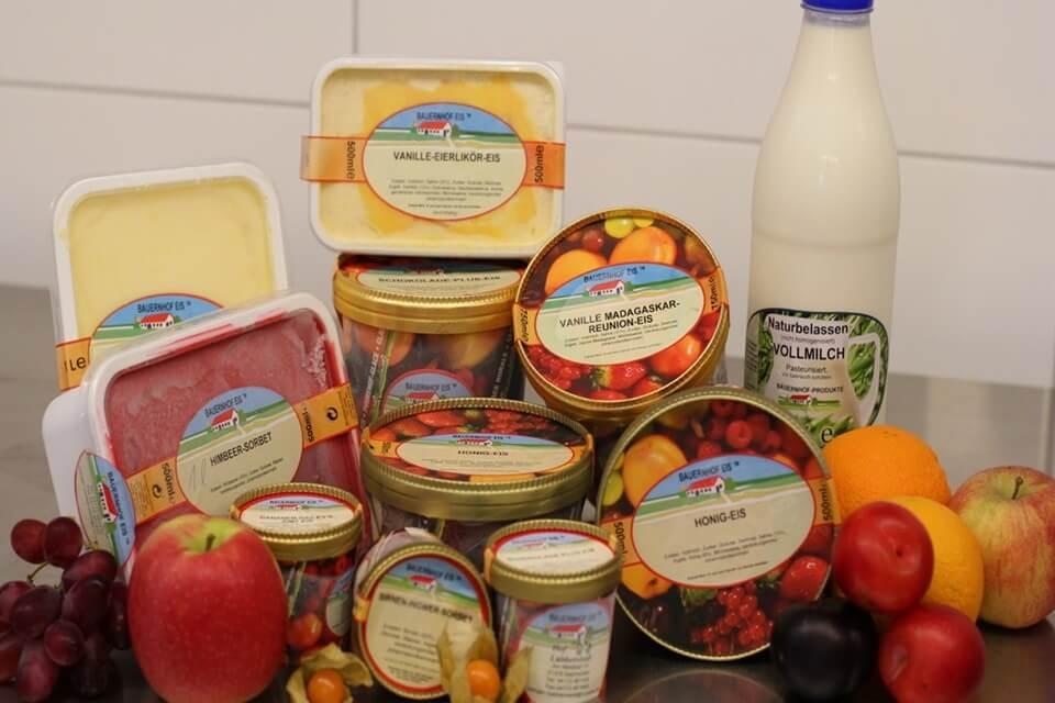 Voorverpakt Boerderij ijs, uitermate geschikt voor verkoop in uw lokale supermarkt